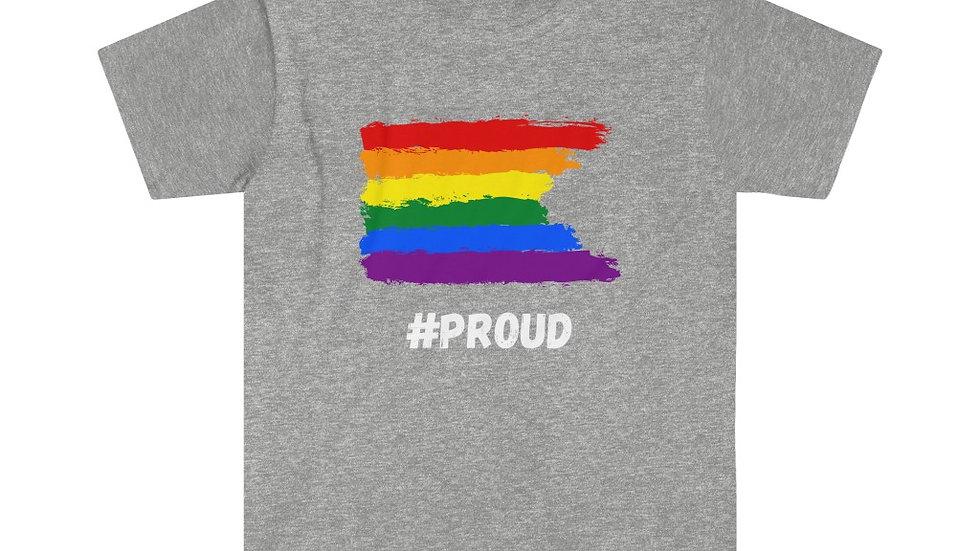 #PROUD PAINTED FLAG Unisex Softstyle T-Shirt (US)