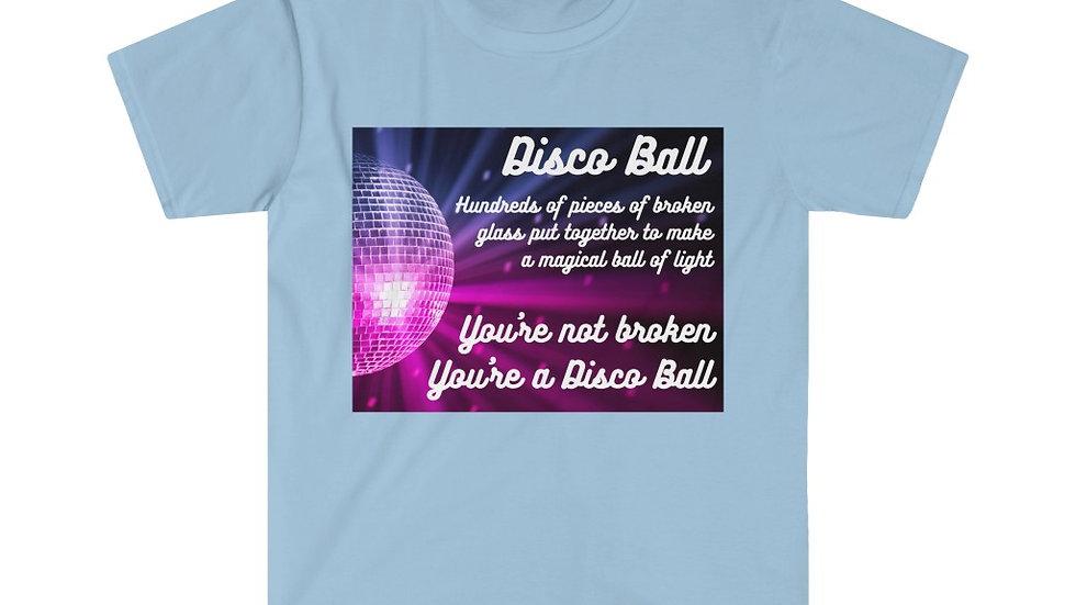 Disco Ball (Colour Print) Unisex Softstyle T-Shirt
