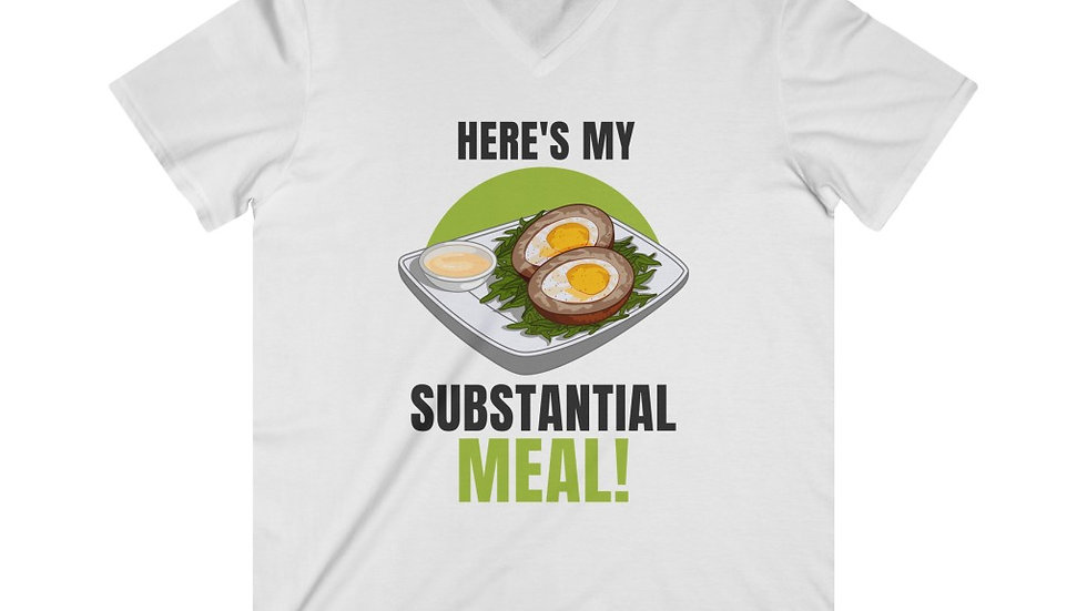 SUBSTANTIAL MEAL Fitted Lightweight V-Neck T-Shirt