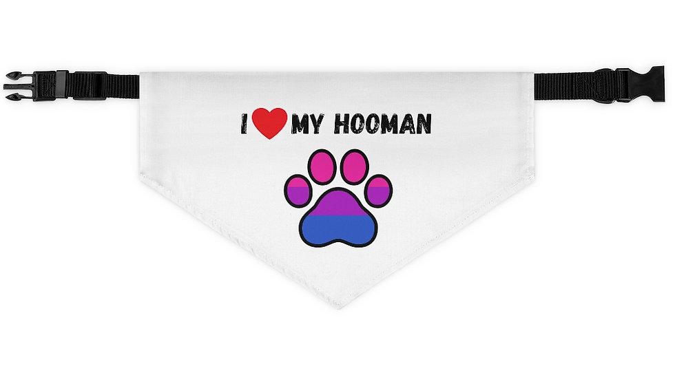 I LOVE MY HOOMAN Pet Bandana Collar (bisexual)