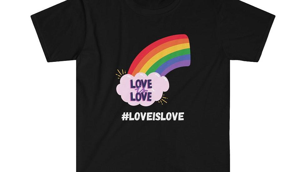 #LOVEISLOVE Unisex Softstyle T-Shirt (US)