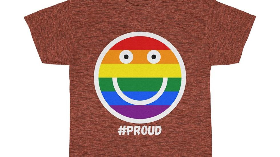 #PROUD SMILEY FACE Unisex Softstyle T-Shirt (AUS)
