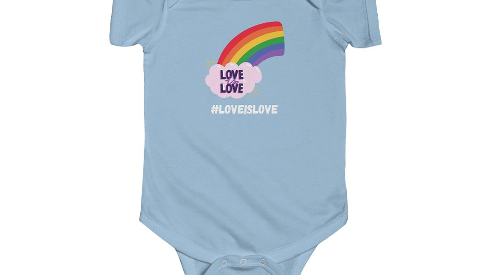 LOVE IS LOVE Infant Fine Jersey Bodysuit