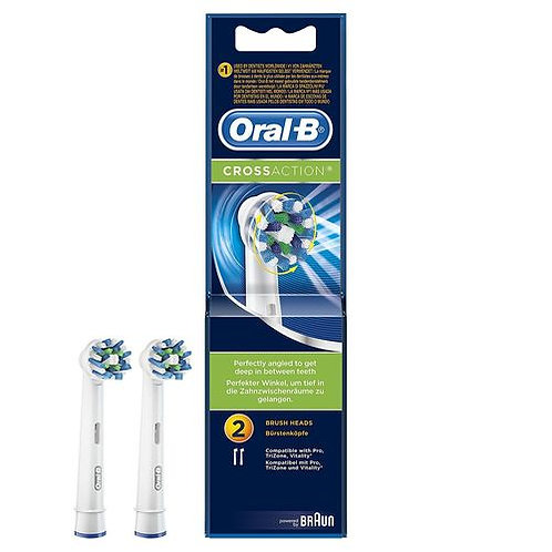 Oral B Cross Action Head (Pack of 2)
