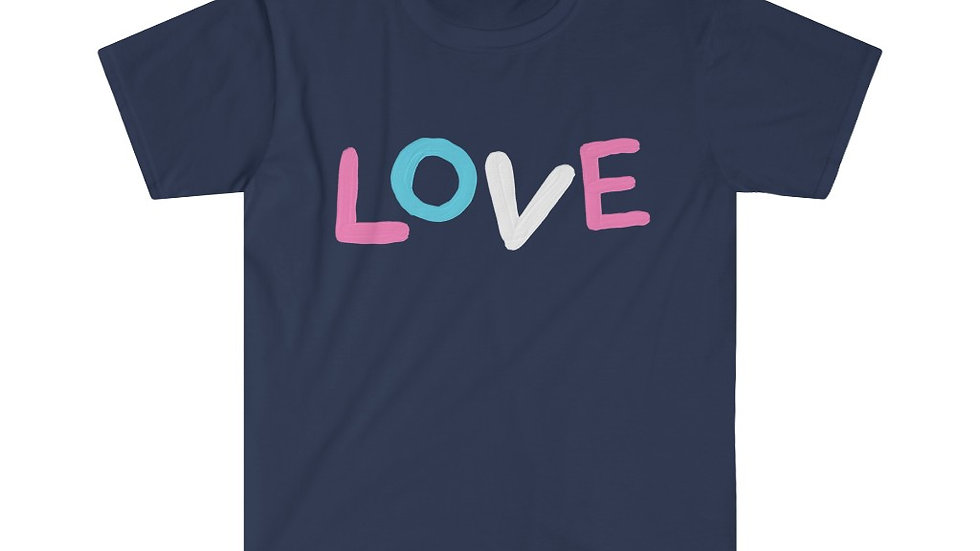 LOVE (Trans Flag Colours) Unisex Softstyle T-Shirt