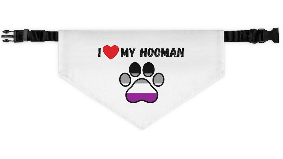 I LOVE MY HOOMAN Pet Bandana Collar (asexual)