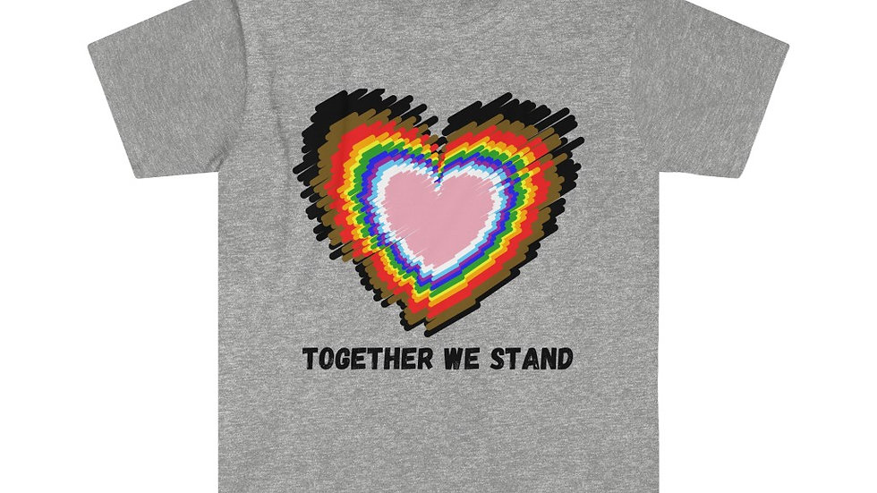 TOGETHER WE STAND Unisex Softstyle T-Shirt (Black Text) (US)