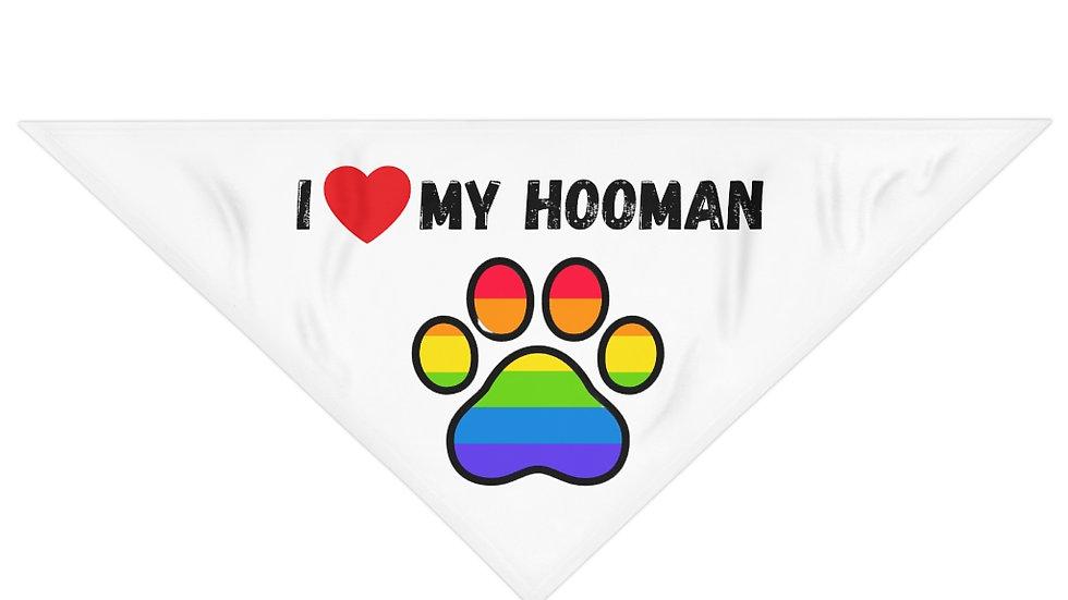 I LOVE MY HOOMAN Pet Bandana (rainbow)