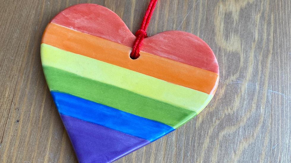 Rainbow Ceramic Decorations/Pendants