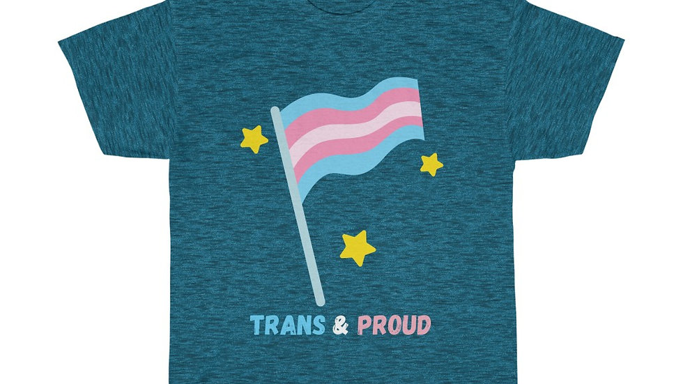 TRANS AND PROUD Unisex Softstyle T-Shirt (AUS)