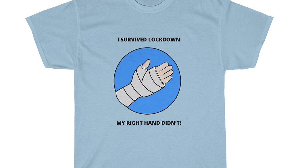 I SURVIVED LOCKDOWN. MY RIGHT HAND DIDN'T!