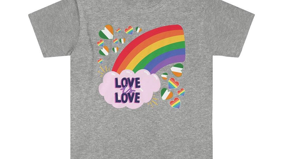 LOVE IS LOVE RAINBOW (IRELAND) Unisex Softstyle T-Shirt