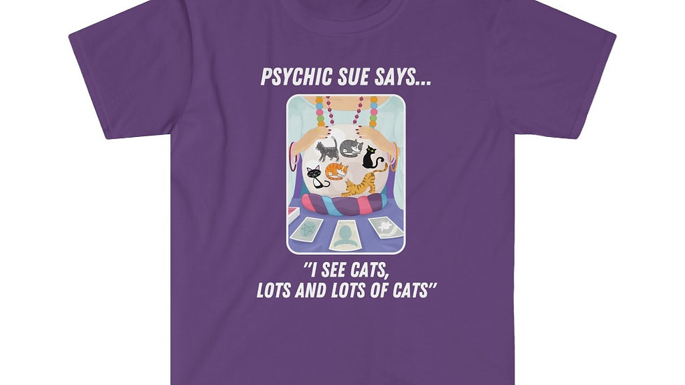 PSYCHIC SUE SAYS Unisex Softstyle T-Shirt