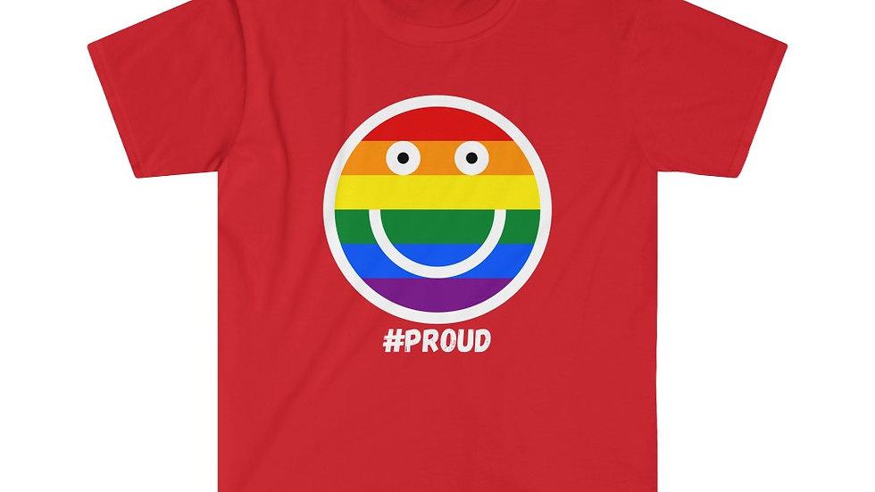 #PROUD SMILEY FACE Unisex Softstyle T-Shirt (US)