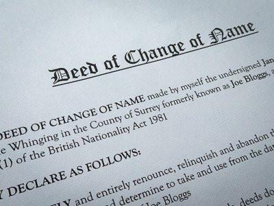 Change of Name Deeds