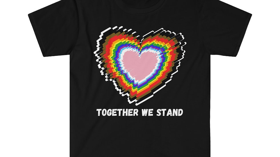 TOGETHER WE STAND (WHITE TEXT) Unisex Softstyle T-Shirt