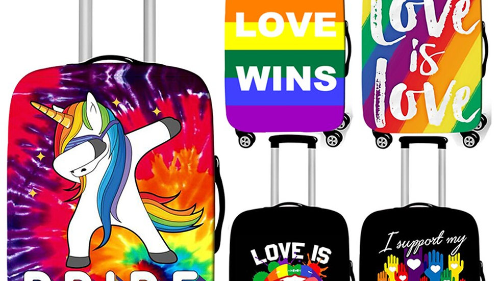 Pride Lgbtq+  Rainbow Luggage Cover/ Anti-Dust Suitcase Cover
