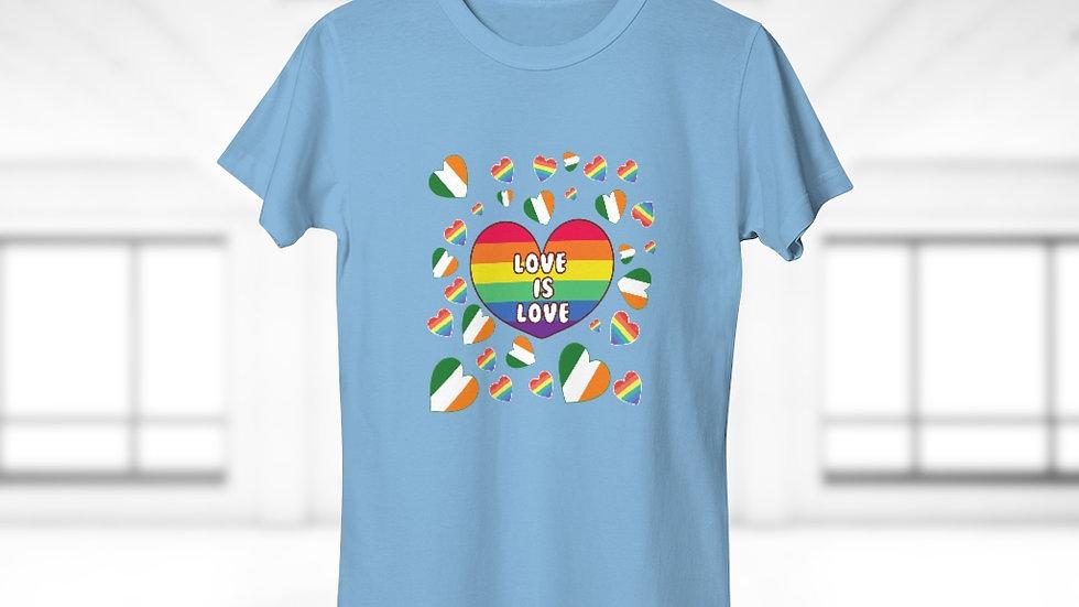 LOVE IS LOVE (IRELAND) Single Jersey Women's T-shirt