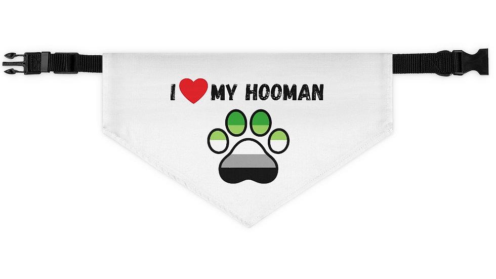 I LOVE MY HOOMAN Pet Bandana Collar (aromantic)