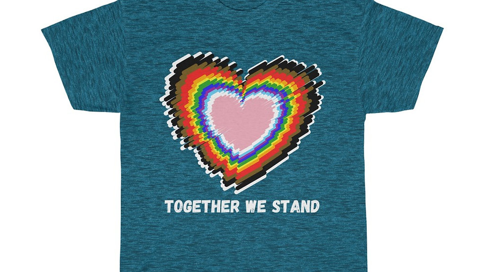 TOGETHER WE STAND (WHITE TEXT) Unisex Softstyle T-Shirt (AUS)