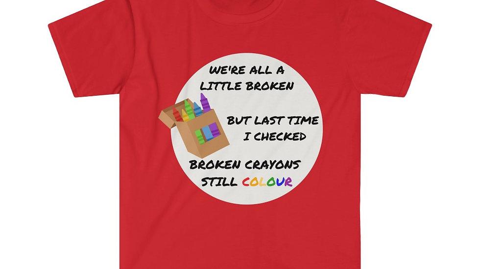 Broken Crayon Unisex Softstyle T-Shirt
