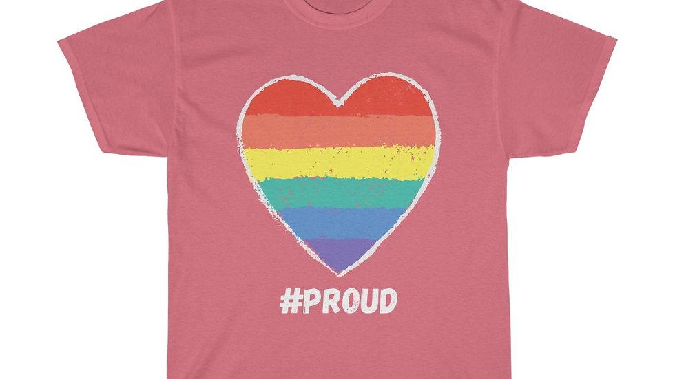 #PROUD HEART (WHITE TEXT) Unisex Softstyle T-Shirt (AUS)