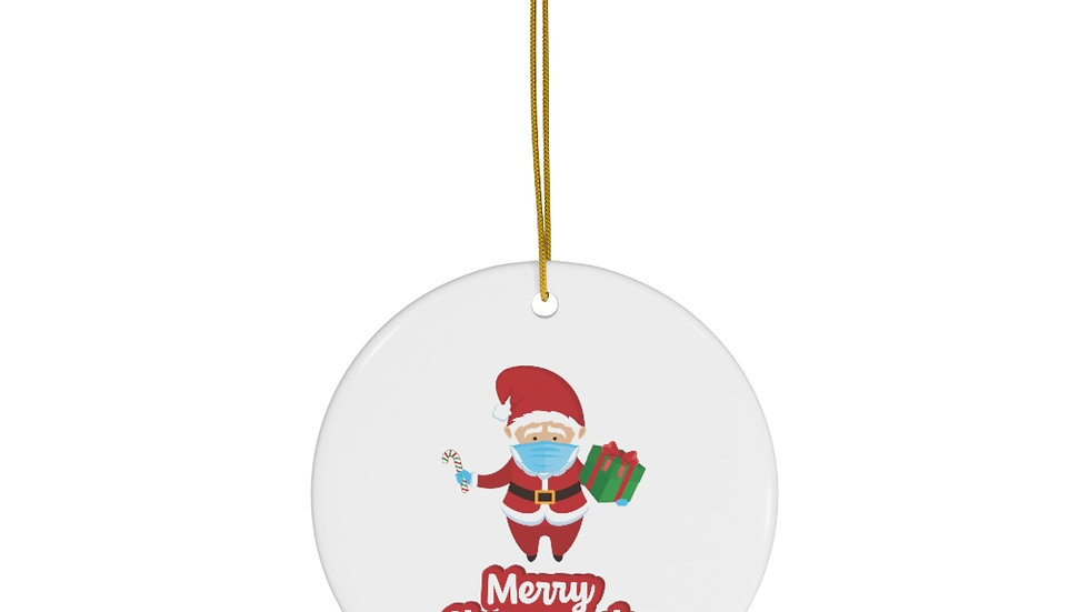 MERRY CHRISTMASK DECORATION