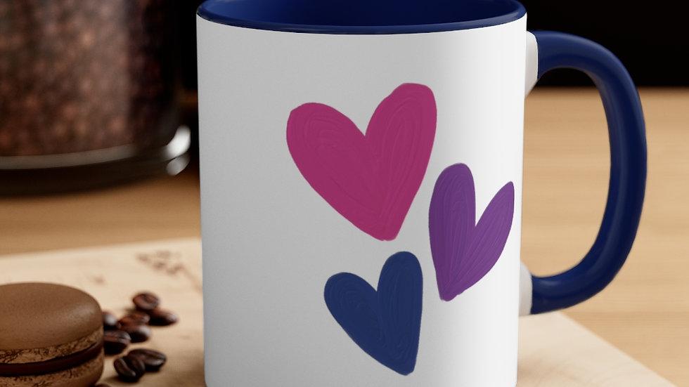Bisexual Accent Coffee Mug, 11oz