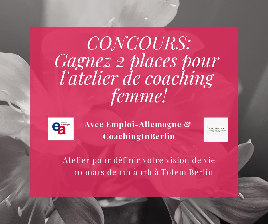 Concours Atelier de Coaching avec Emploi-Allemagne
