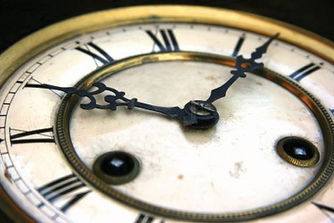 3418332-antique-clock-face-detail-with-r