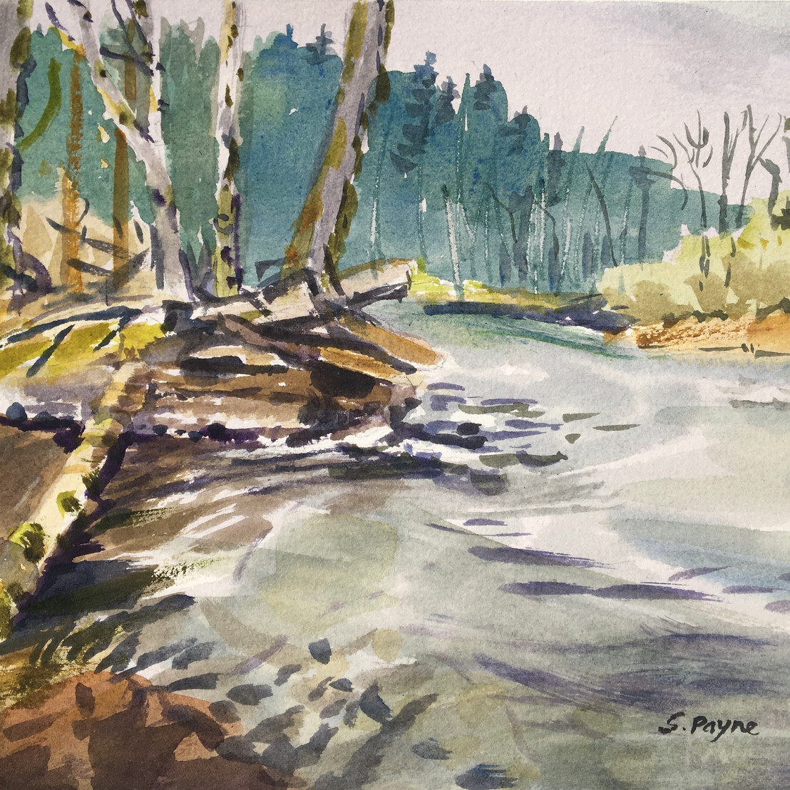 Green River Spring Plein Air