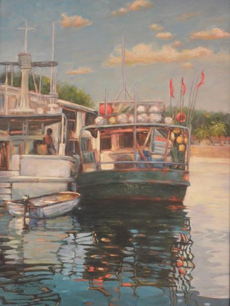 Port Vila  18 x 24 Oil  framed  $ 680.JP