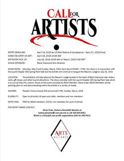 PRESS RELEASE CALL FOR ARTISTS