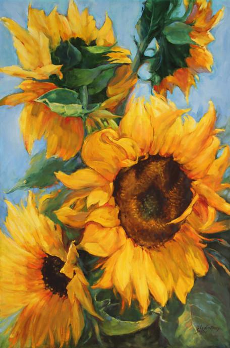 Sunflowers 24 x 36 Oil framed  $ 1000.JP