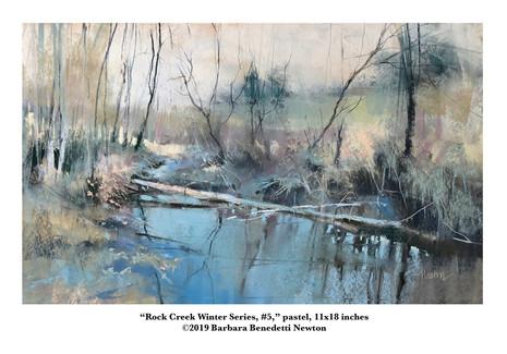 Rock Creek Winter Series, #5, pastel, 11