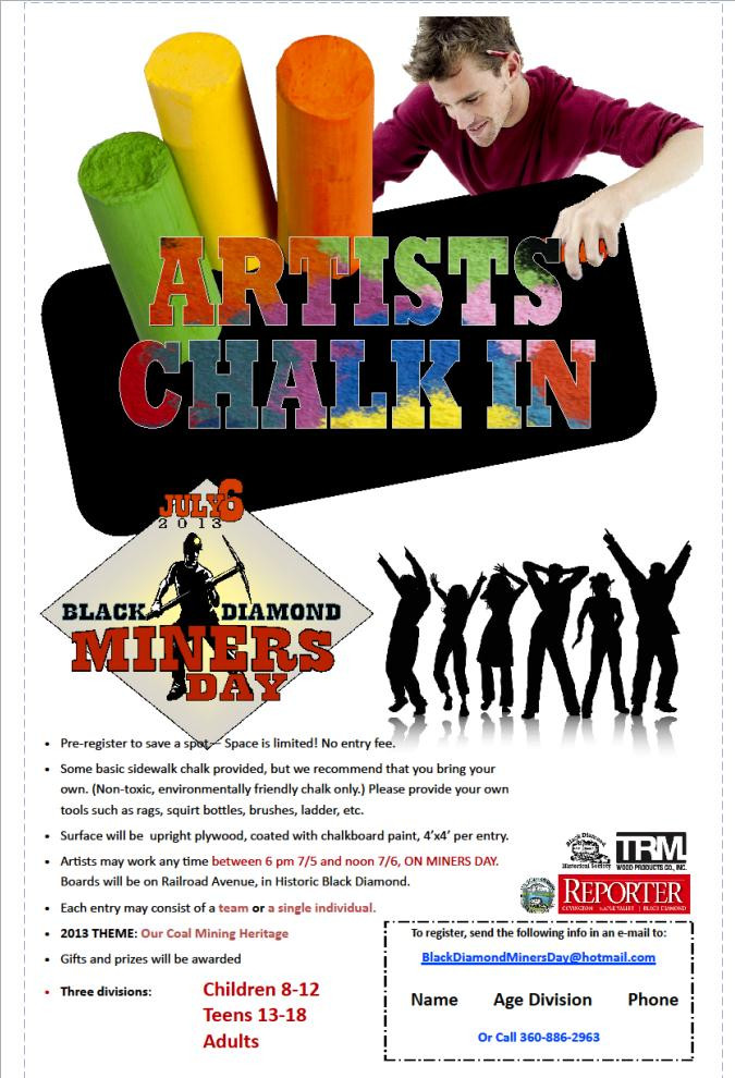 Miner's Day Chalk in poster