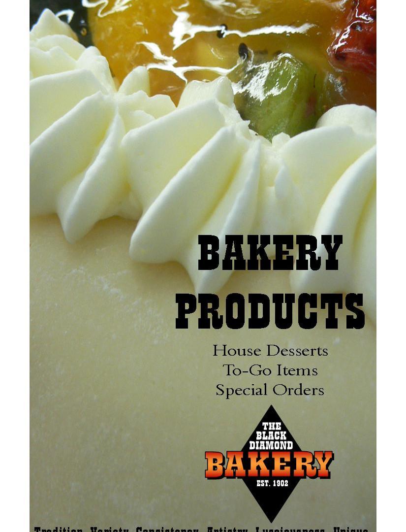 Bakery prodct booklet