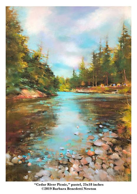 Cedar River Picnic, pastel, 24x18.jpg