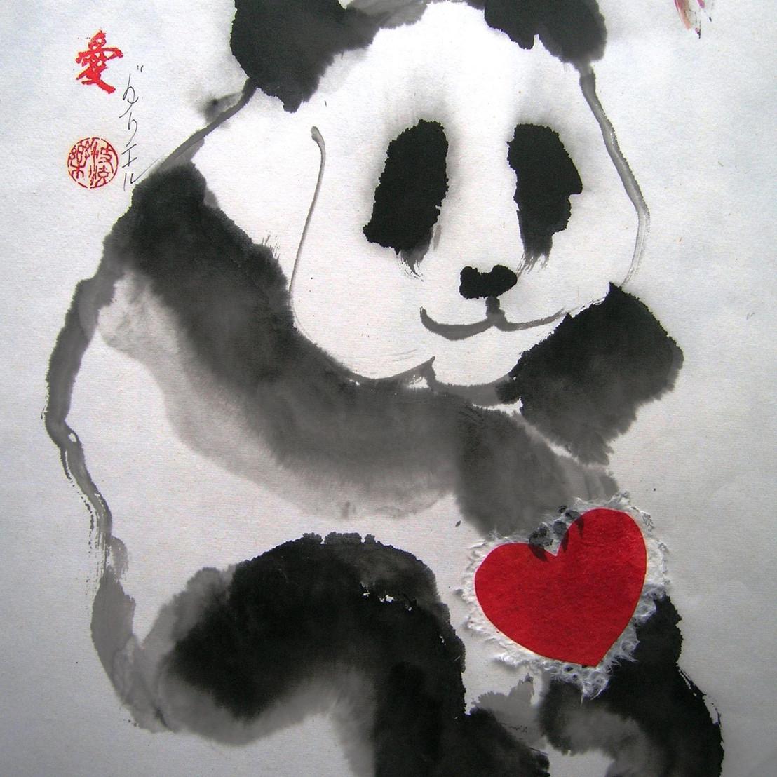 Panda & Heart