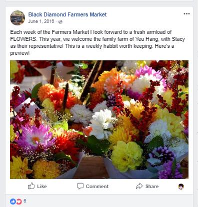 New flower lady, Farmers Market Social