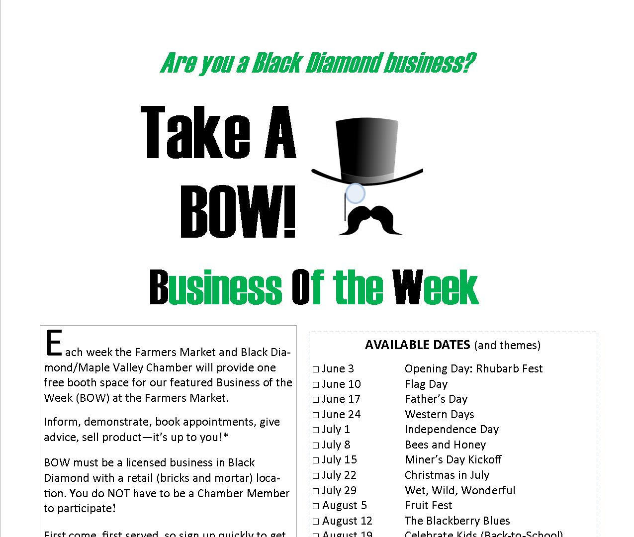 Business of the Week at the Farmers Maret