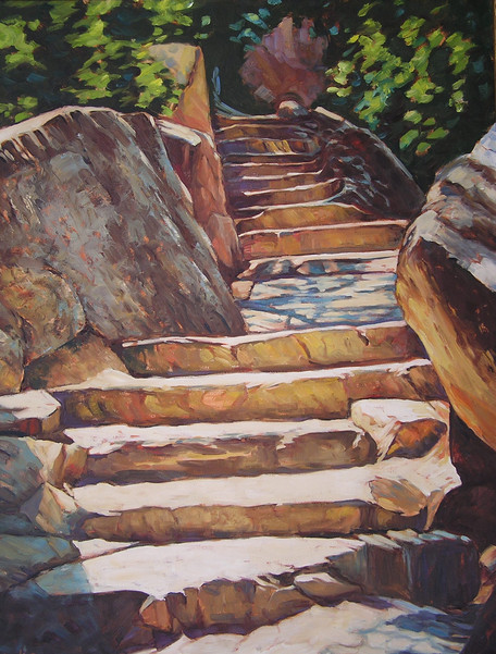 Going up Mesa Verde 30 x 36 Oil  framed