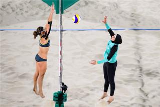 【里約奧運】巾幗下的排球火  穆斯林沙排女將