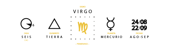 Casa 6, elemento tierra, signo de virgo, planera regente: mercurio