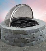 Ledgestone Round Wood Firepit