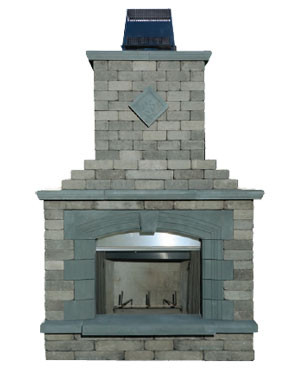Pre-Packaged Olde Englsih Paver Fireplace