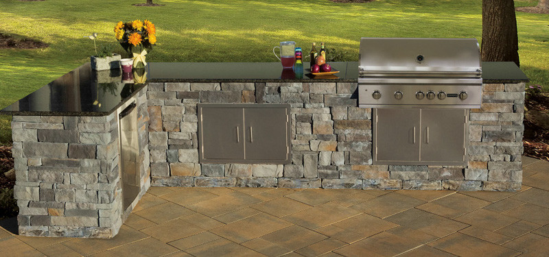 Stone Veneer Kitchen