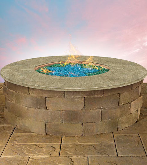 Olde English Round Gas Firepit