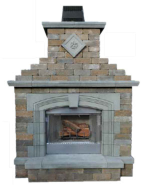 Olde English Wall Fireplace