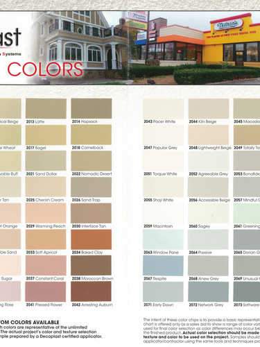 Decoplast Color Chart